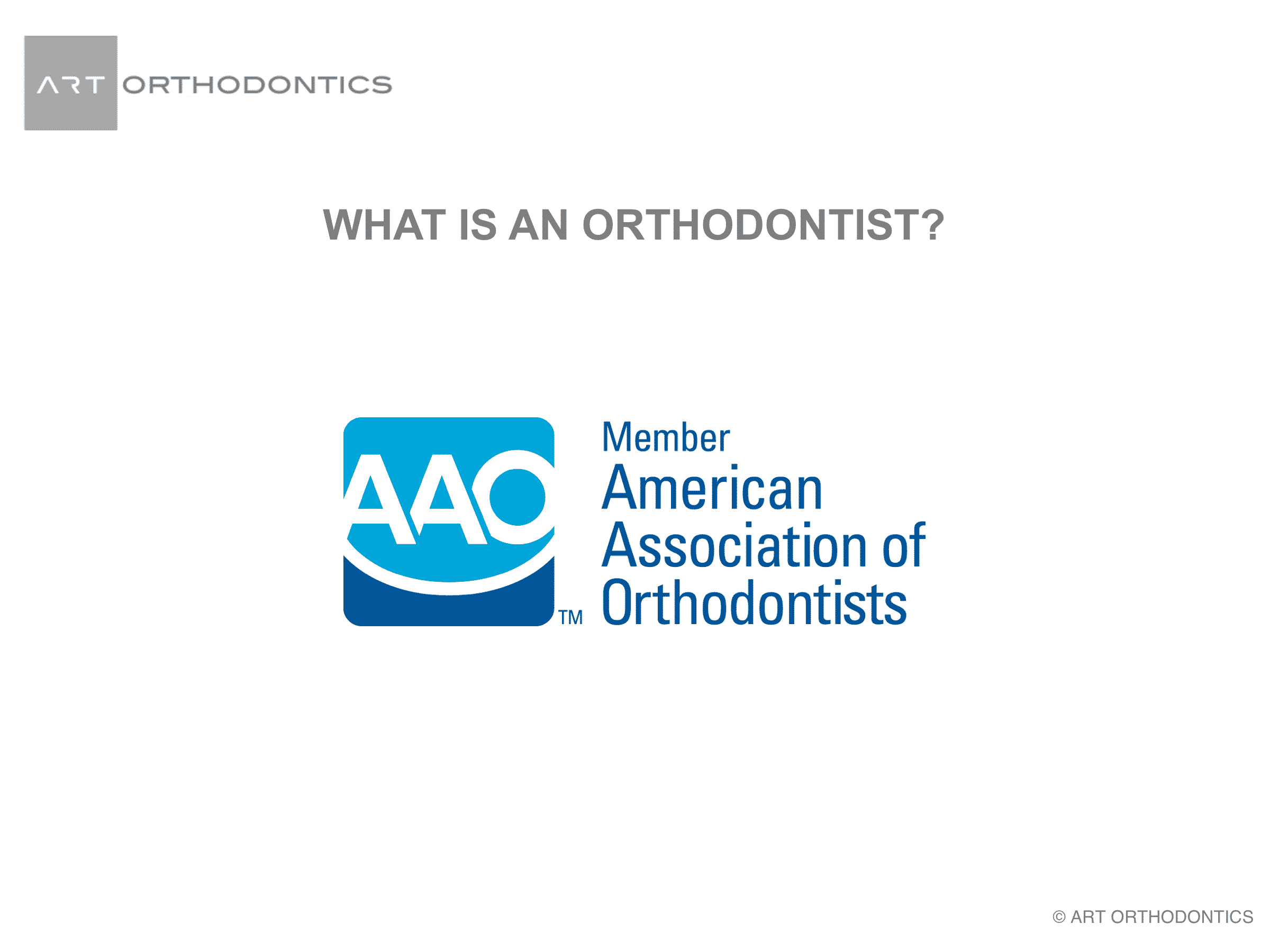 American Association of Orthodontists (AAO) logo
